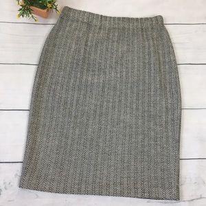 St. John Collection Black White Knit Career Skirt